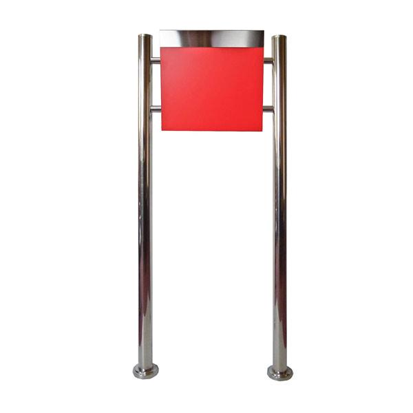 郵便ポスト郵便受けおしゃれかわいい人気北欧モダンデザインメールボックススタンド型鍵付きマグネット付き レッド 赤色 ポストpm333s