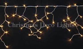 【送料無料】LEDイルミネーション、アイシクル(ツララ)、常点、プロ仕様(V3)、140球、オレンジゴールド