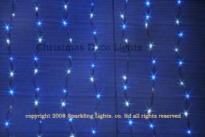 【送料無料】LEDイルミネーションウォーターフォールカーテン(ナイアガラ)上下方向点滅プロ仕様(V3)、256球、ホワイトト(白)/ブルー(青)ミックス
