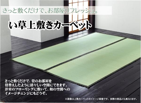 【送料無料】純国産 糸引織 い草上敷 『湯沢』 団地間6畳(約255×340cm)
