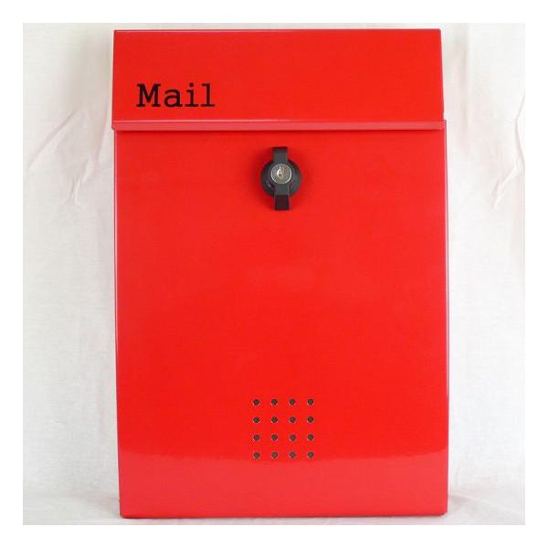 【送料無料】郵便ポスト 郵便受け 錆びにくい メールボックス壁掛けレッド赤色 ステンレスポスト(red)