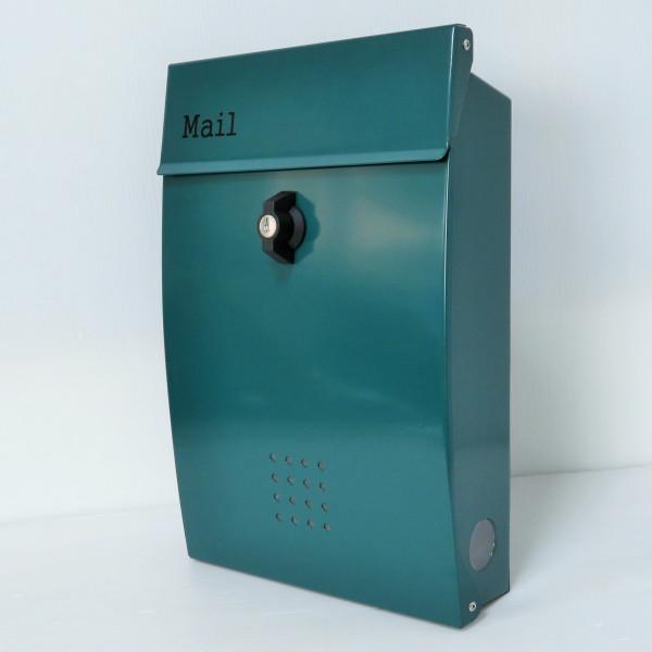 【送料無料】郵便ポスト 郵便受け 錆びにくい メールボックス壁掛けグリーン緑色 ステンレスポスト(green)