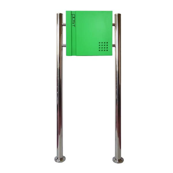 郵便ポスト 郵便受け おしゃれ 人気 大型 メールボックス スタンド型 鍵付き マグネット付き グリーン 緑色ポスト pm466s