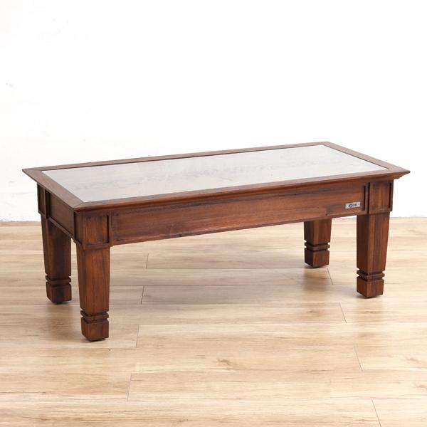 家具 インテリア テーブル 机 センターテーブル コーヒー ロー 座卓 リビング チーク 木製 ガラス アジアン エスニック 南国 バリ ナチュラル リゾート デザイン 彫刻 透かし彫り