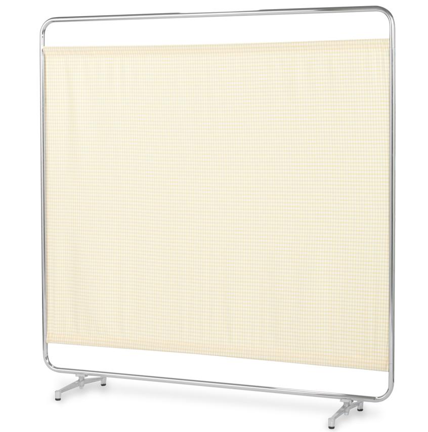 【送料無料】【日本製】シンプルなスクリーン衝立一本立 幅150cm 高さ153cm AS-150 クロスメディカルスクリーン チェックカーテン アジャスタ脚