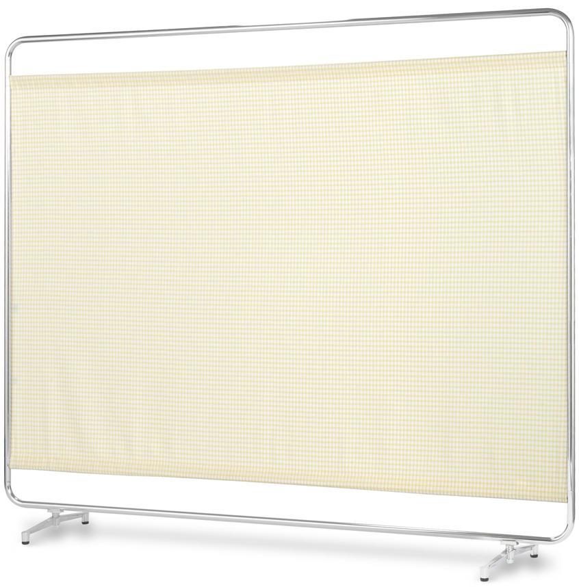 【送料無料】【日本製】シンプルなスクリーン衝立一本立 幅180cm 高さ153cm AS-180 クロスメディカルスクリーン チェックカーテン アジャスタ脚