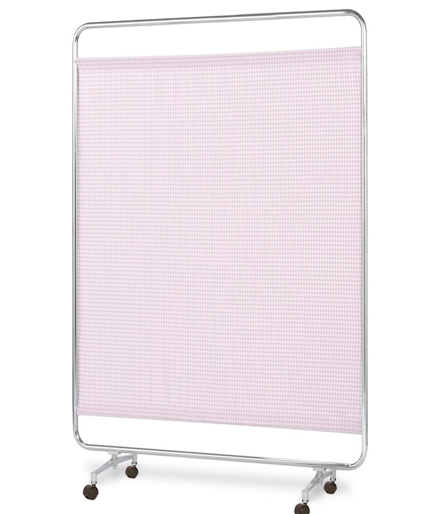【送料無料】【日本製】シンプルなスクリーン衝立一本立 幅120cm 高さ180cm AS-120H クロスメディカルスクリーン チェックカーテン キャスター脚