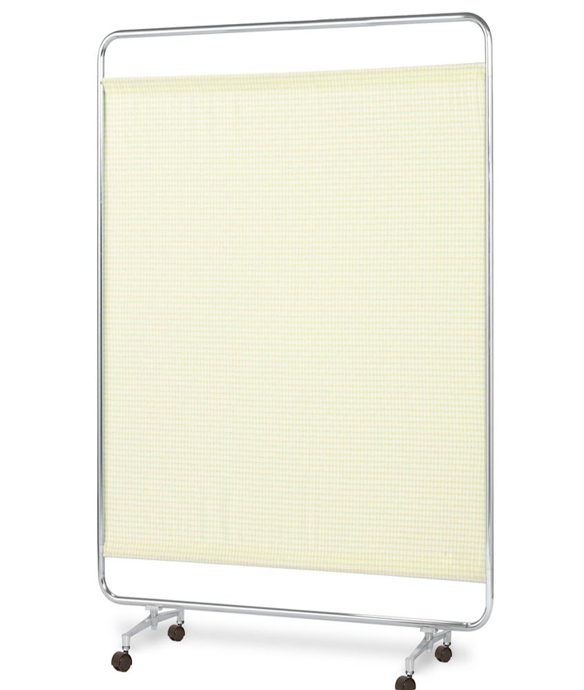 【送料無料】【日本製】シンプルなスクリーン衝立一本立 幅120cm 高さ180cm AS-120H クロスメディカルスクリーン チェックカーテン S付キャスター脚