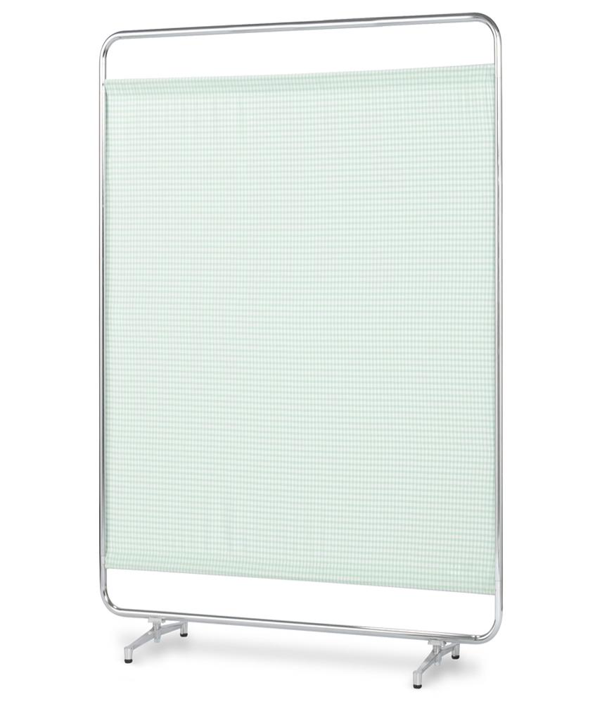 【送料無料】【日本製】シンプルなスクリーン衝立一本立 幅120cm 高さ180cm AS-120H クロスメディカルスクリーン チェックカーテン アジャスタ脚