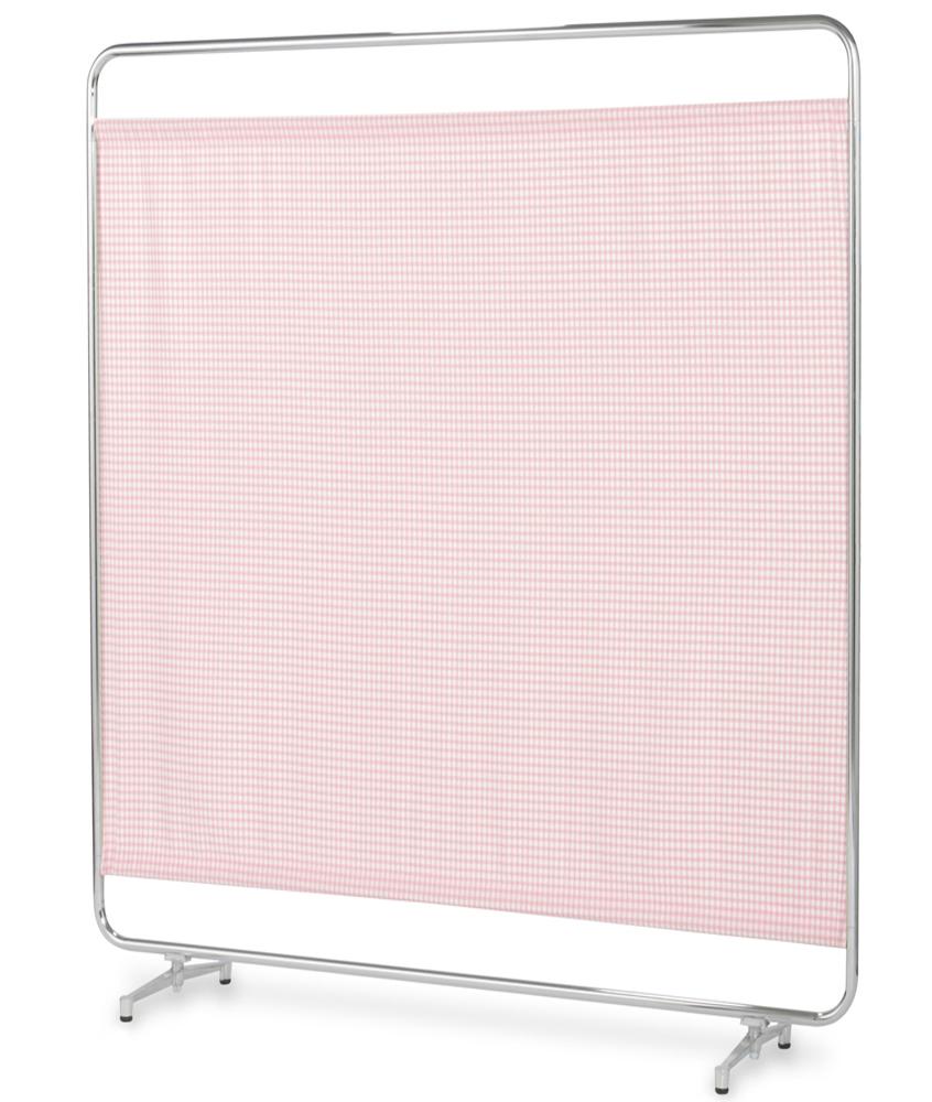 【送料無料】【日本製】シンプルなスクリーン衝立一本立 幅150cm 高さ180cm AS-150H クロスメディカルスクリーン チェックカーテン アジャスタ脚