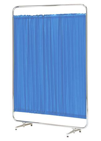 【送料無料】【日本製】シンプルなスクリーン衝立一本立 幅120cm 高さ153cm AS-120 クロスメディカルスクリーン 防炎カーテン アジャスタ脚
