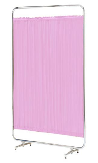 【送料無料】【日本製】シンプルなスクリーン衝立一本立 幅120cm 高さ180cm AS-120H クロスメディカルスクリーン 標準カーテン アジャスタ脚