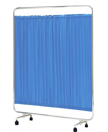 【送料無料】【日本製】シンプルなスクリーン衝立一本立 幅150cm 高さ153cm AS-150 クロスメディカルスクリーン 標準カーテン キャスター脚