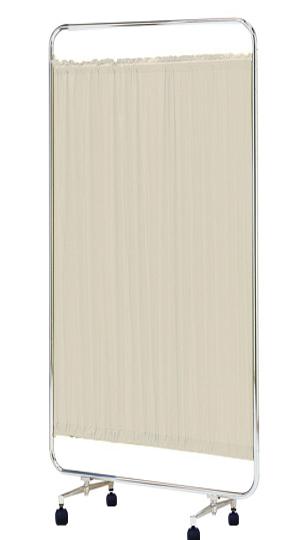 【送料無料】【日本製】シンプルなスクリーン衝立一本立 幅90cm 高さ180cm AS-90H クロスメディカルスクリーン 防炎カーテン S付キャスター脚