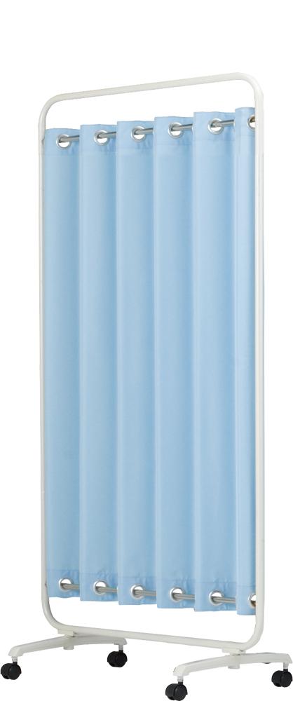 【送料無料】【日本製】シンプルなスクリーン衝立一本立 幅90cm×高さ1620 ハートウェーブスクリーン 無地(防炎+制菌)パーマネントプリーツカーテン