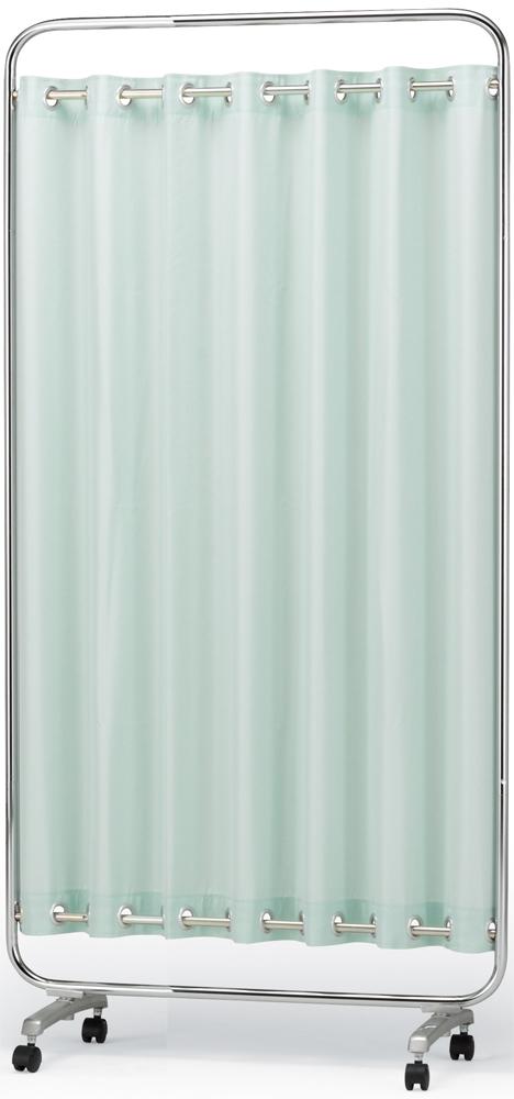 【送料無料】【日本製】シンプルなスクリーン衝立一本立 幅90cm×高さ1790 ハートウェーブスクリーン 無地(防炎+制菌)パーマネントプリーツカーテン