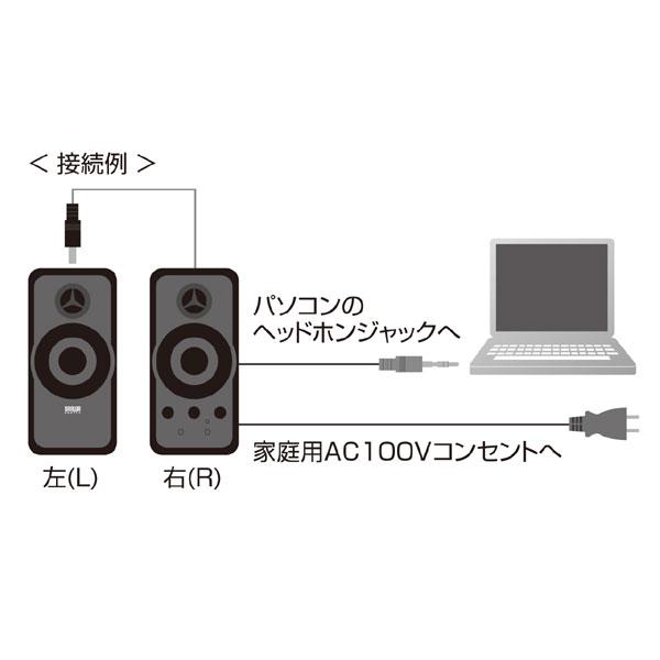 サンワサプライMM-SPL6BKマルチメディアスピーカー