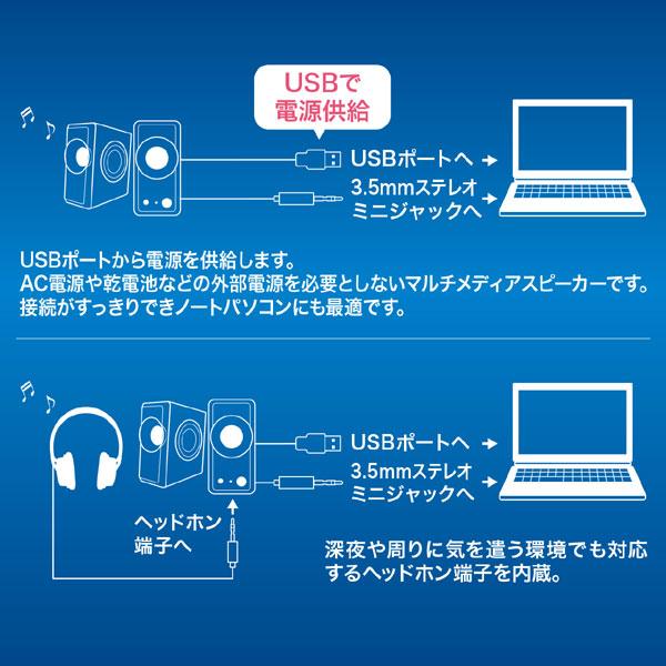 USB電源マルチメディアスピーカー