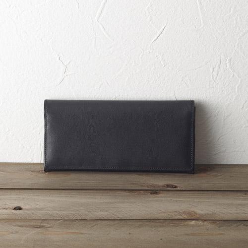 ソフトオイルレザー 長財布(ブラック)