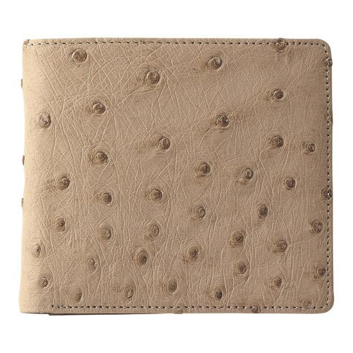 紳士用オーストリッチ財布 ベージュ K91108828