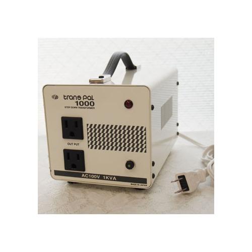 スワロー電機 【受注生産のため納期約2週間】ダウントランス 120V→100V / 1000W PAL-1000AP
