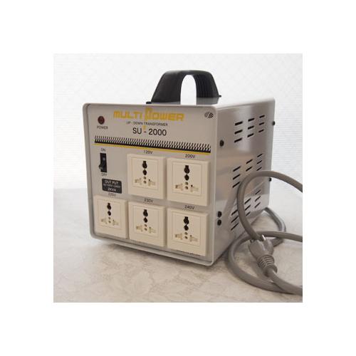スワロー電機 【受注生産のため納期約2週間】100~240V対応 マルチ変圧器 2000W SU-2000