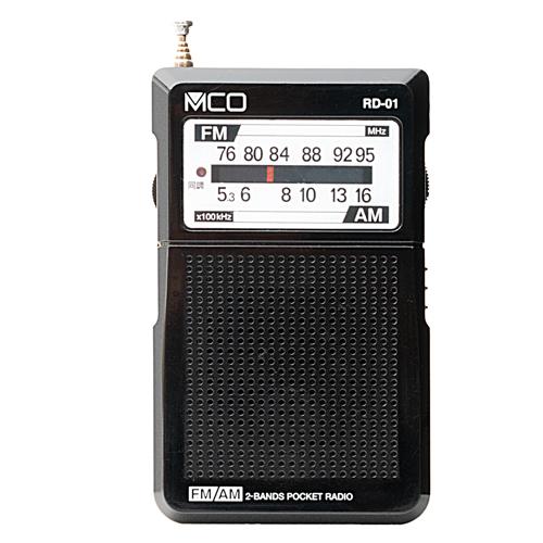 ミヨシ AM FMポケットラジオ 黒 RD-01/BK