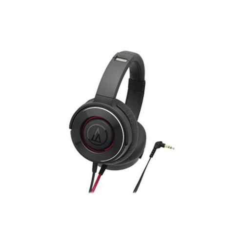 【マラソンでポイント最大43倍】Audio-Technica オーディオテクニカ ダイナミック密閉型ヘッドホン ブラックレッド ATH-WS550-BRD