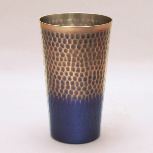 王輝 銅製鎚目タンブラー(中)満水容量約350ml