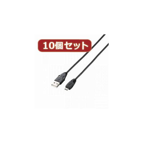 【スーパーセールでポイント最大43倍】【10個セット】 エレコム タブレット用USBケーブル(A-microB) TB-AMB10BKX10
