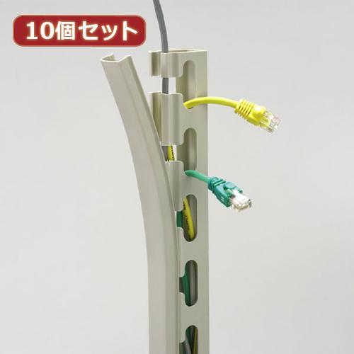 【10個セット】 サンワサプライ ケーブルダクト(長さ950mm) CA-D25SX10