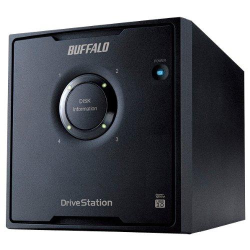 BUFFALO バッファロー ドライブステーション RAID 5対応 USB3.0用 外付けHDD 4ドライブモデル 8TB (ドライブステーション) HD-QH8TU3/R5 HD-QH8TU3/R5