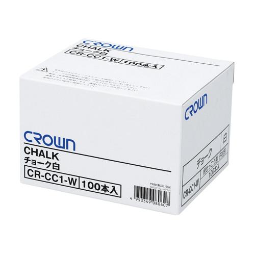 (まとめ) チョーク クラウン クラウンチョーク 白 CR-CC1-W 4953349080607 1箱【20×セット】