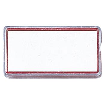 (まとめ) マグネット名札 クラウン マグタッチカラー名札 PS製 赤 CR-MG80-R 4953349153769 ●外寸:縦25×横50×厚8mm 1個【100×セット】