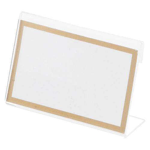 オフィス家具 カード立 L型カード立 (まとめ) カード立 クラウン L型カード立 CR-KD800-T 4953349082618 ●外寸:幅80×高53mm●中紙サイズ:横80×縦50mm 1個【100×セット】