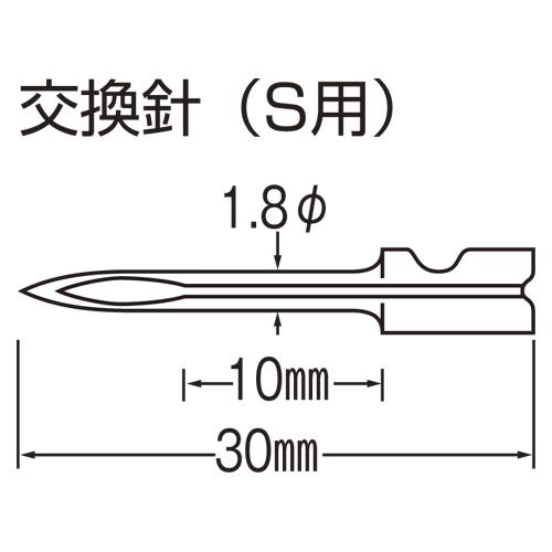 (まとめ) 値札関連用品 バノック 値札ラベル取付器 N-1 4994415000211 ●仕様:S用針 標準ピン用(繊維用) 1個【5×セット】