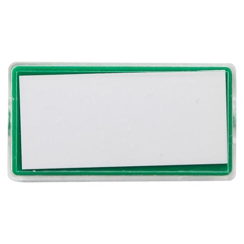 (まとめ) マグネット名札 クラウン マグタッチカラー名札 PS製 緑 CR-MG80-G 4953349153783 ●外寸:縦25×横50×厚8mm 1個【100×セット】