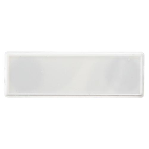 (まとめ) マグネット名札 クラウン マグタッチカラー名札 PS製 白 CR-MG100-W 4953349153806 ●外寸:縦25×横80×厚8mm 1個【100×セット】