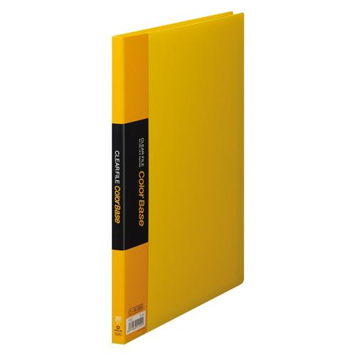 (まとめ) クリヤーファイル(ポケット溶着式) キングジム クリアーファイル・カラーベース ポケット溶着式 黄色 132Cキイ 4971660211401 ●20ポケット●外寸(縦×横):307×242mm●背幅:14mm 1冊【20×セット】