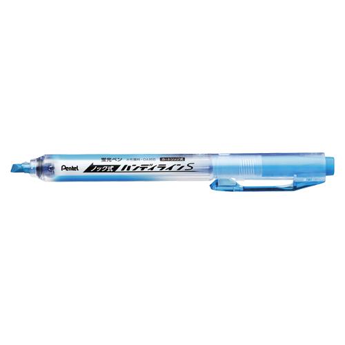 (まとめ) 蛍光マーカーペン ぺんてる ノック式ハンディラインS スカイブルー SXNS15-S 4902506280787 1本【100×セット】