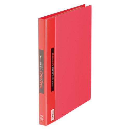 (まとめ) クリヤーファイル(ポケット差し替え式) キングジム クリアーファイル・カラーベース差し替え式 赤 139アカ 4971660161607 1冊【10×セット】