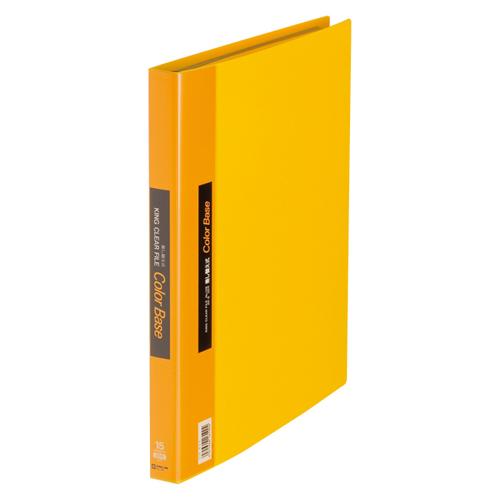 (まとめ) クリヤーファイル(ポケット差し替え式) キングジム クリアーファイル・カラーベース差し替え式 黄色 139キイ 4971660161904 1冊【10×セット】