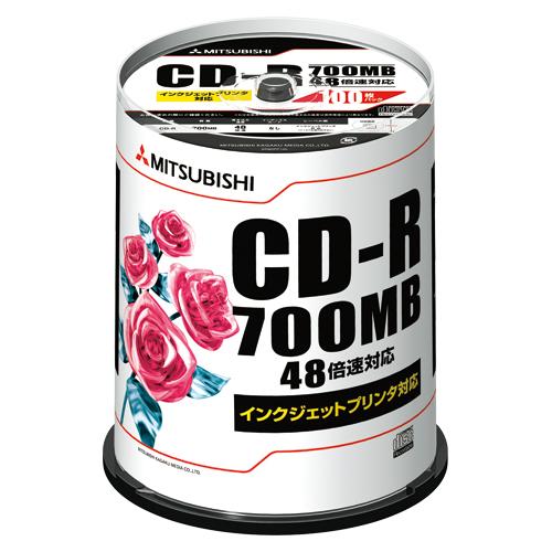 (まとめ) CD-R 三菱ケミカルメディア PC DATA用 CD-R パソコンデータ用1回記録タイプ SR80PP100 4991348065270 1個【5×セット】