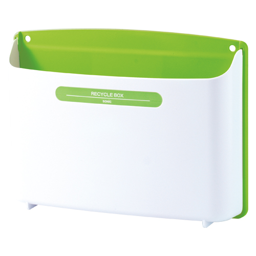 (まとめ) ゴミ箱 ソニック リサイクルボックス 緑 MP-693-G 4970116031020 1個【10×セット】
