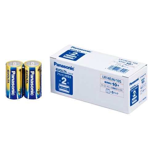 (まとめ) アルカリ乾電池 パナソニック EVOLTAアルカリ乾電池 LR14EJN/10S 4984824832558 ●形式:単2形(1.5V) 1箱【10×セット】