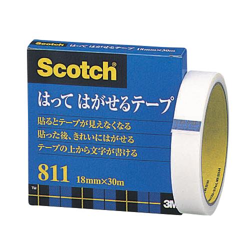 (まとめ) メンディングテープ スリーエム スコッチ[R] はってはがせるテープ 811-3-18 4901690005824 ●寸法:幅18mm×長30m 1個【20×セット】