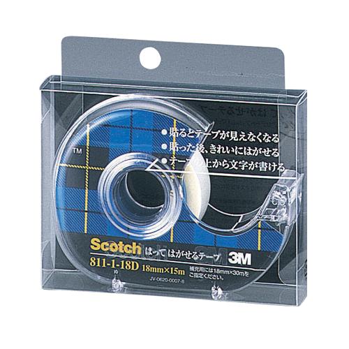 【スーパーセールでポイント最大44倍】(まとめ) メンディングテープ スリーエム スコッチ[R] はってはがせるテープ 811-1-18D 4901690009129 ●寸法:幅18mm×長15m 1個【20×セット】