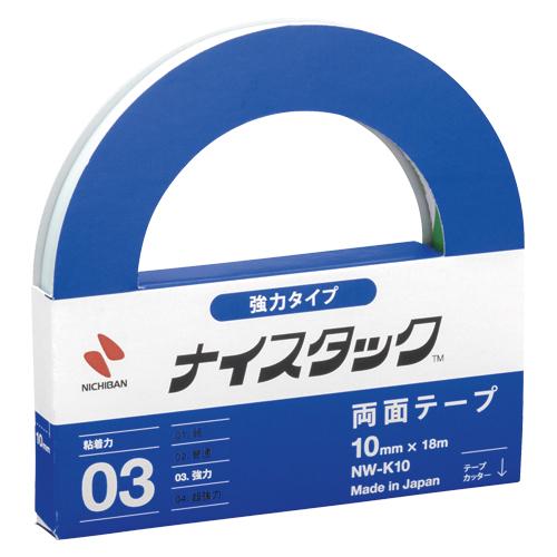 (まとめ) 両面テープ ニチバン ナイスタック[TM]強力タイプ NW-K10 4987167000042 ●寸法:幅10mm×長18m 1個【30×セット】