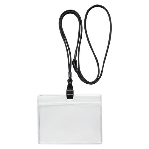 (まとめ) 名札 ソニック 吊り下げ名札 エコノミータイプ 黒 NF-482-D 4970116034304 1袋【10×セット】