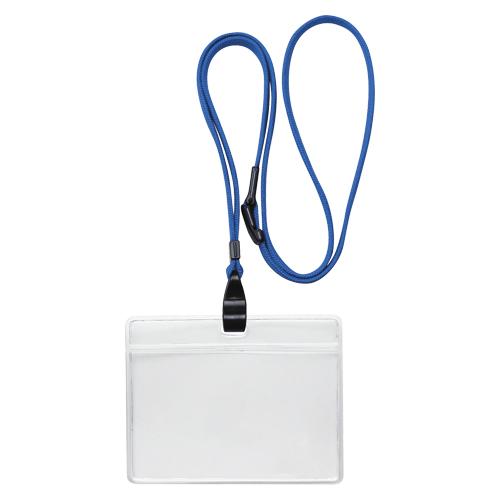 (まとめ) 名札 ソニック 吊り下げ名札 エコノミータイプ 青 NF-482-B 4970116034267 1袋【10×セット】